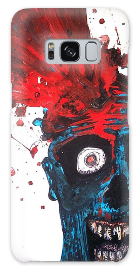 Gush Galaxy S8 Case featuring the painting Gush by Sam Hane