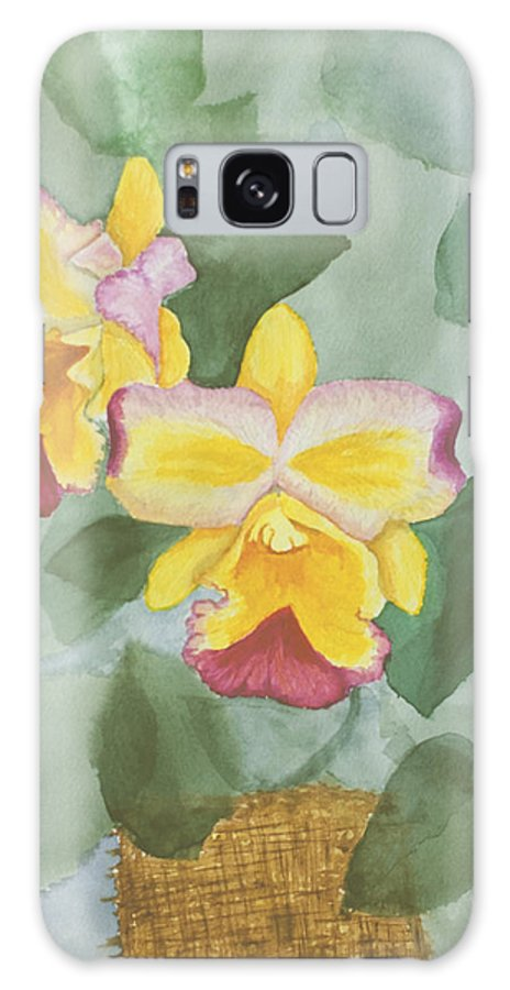 Orchids Galaxy S8 Case featuring the painting Gypsy Orchids by Peggy King