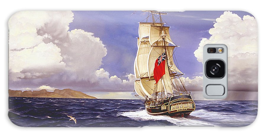 Marine Galaxy S8 Case featuring the painting H. M. S. Bounty At Tahiti by Marc Stewart