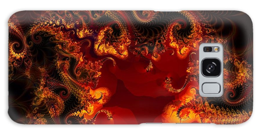 Fractal Galaxy S8 Case featuring the digital art Hades by Ron Bissett