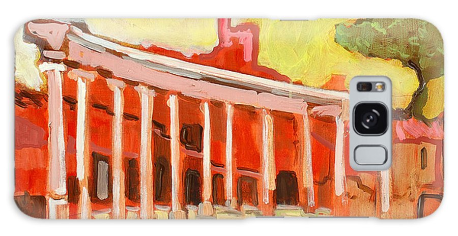Villa Galaxy Case featuring the painting Hadrian's Villa by Kurt Hausmann