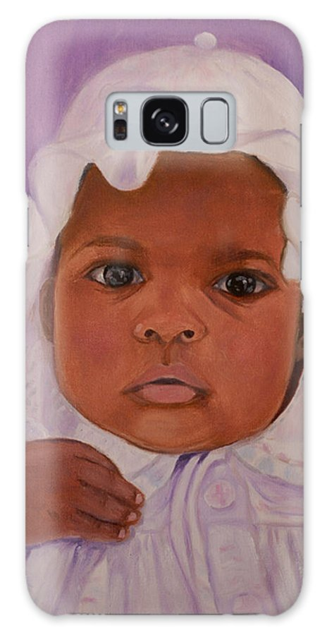 Haiti Galaxy S8 Case featuring the painting Haitian Baby Orphan by Quwatha Valentine