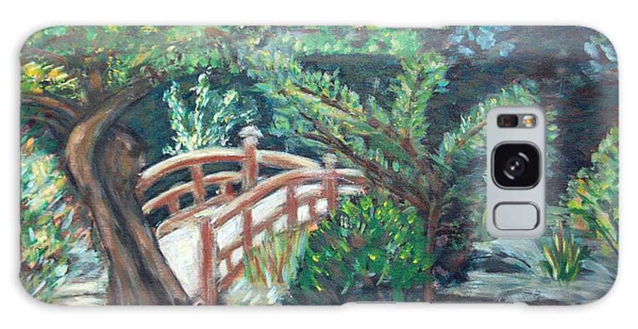 Hakone Garden Galaxy S8 Case featuring the painting Hakone Garden by Carolyn Donnell