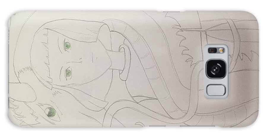 Haku Galaxy S8 Case featuring the drawing Haku The Dragon by Aliyah Pimentel
