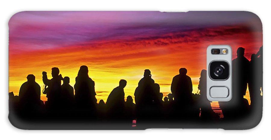 Haleakala Sunrise Galaxy Case featuring the photograph Haleakala Color Show by Jim Cazel