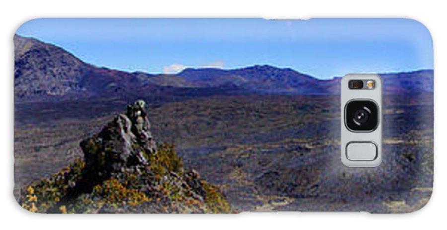 Haleakala Galaxy S8 Case featuring the photograph Haleakala Crater Lava Flows Maui by Dustin K Ryan