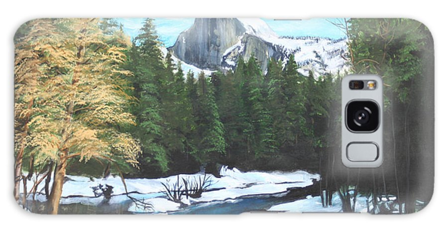 Lkandscape Galaxy S8 Case featuring the painting Half Dome Snow by Travis Day