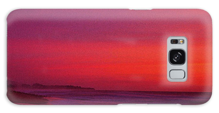 Half Moon Bay Galaxy Case featuring the photograph Half Moon Bay Sunset by Vicky Brago-Mitchell