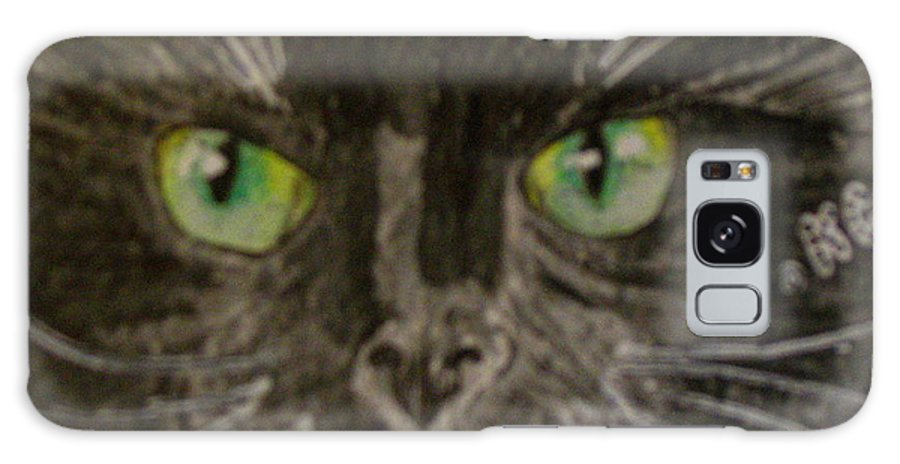 Halloween Galaxy Case featuring the painting Halloween Black Cat I by Kathy Marrs Chandler