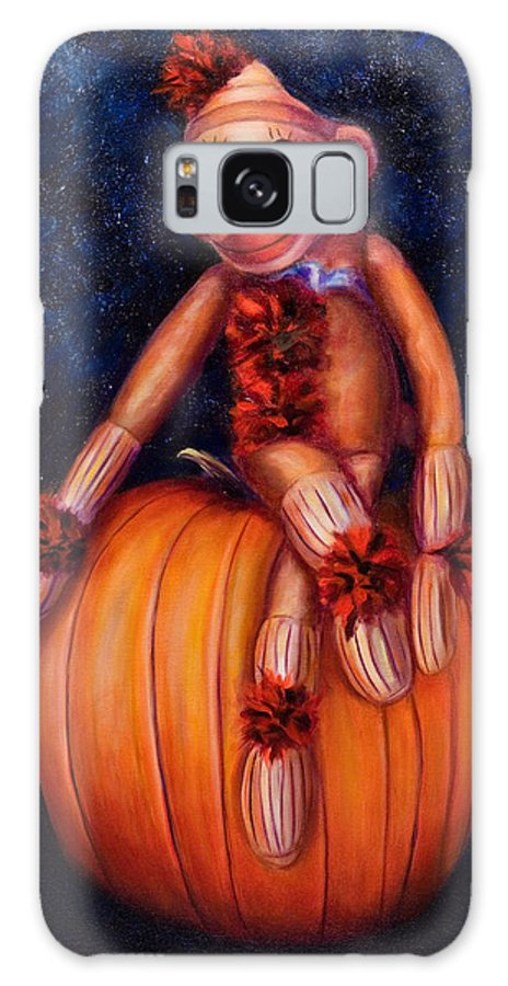 Pumpkin Galaxy S8 Case featuring the painting Halloween by Shannon Grissom