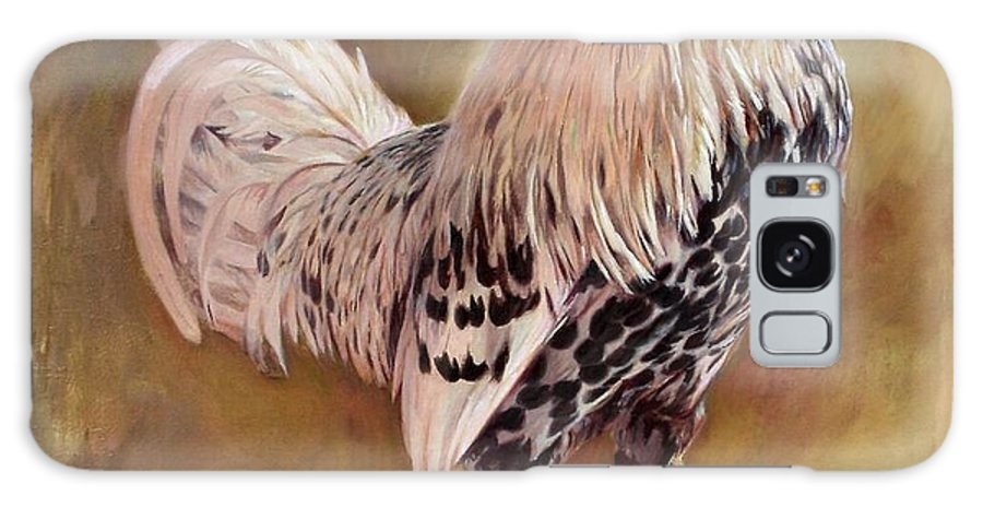 Rooster Galaxy S8 Case featuring the painting Hamburg Rooster by Hans Droog