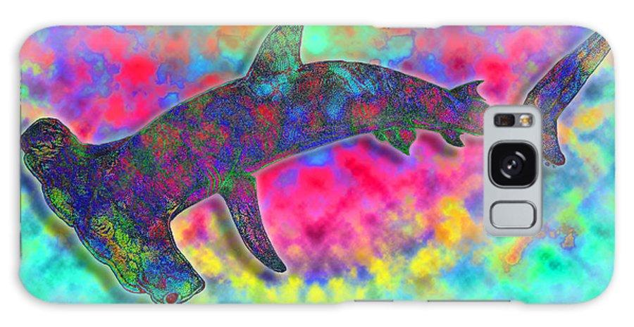 Hammer Head Shark Galaxy S8 Case featuring the drawing Hammer Head 2 by Nick Gustafson