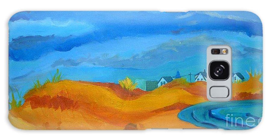 Ocean Galaxy Case featuring the painting Hampton Dunes by Debra Bretton Robinson