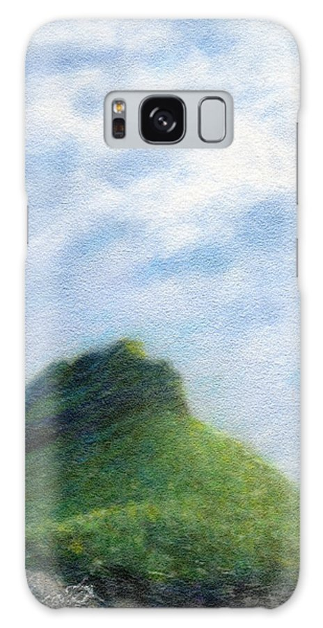 Rainbow Colors Pastel Galaxy Case featuring the painting Hanakapia Beach View by Kenneth Grzesik