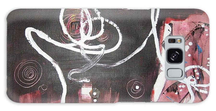 Abstract Paintings Galaxy Case featuring the painting Hand In Hand2 by Seon-Jeong Kim