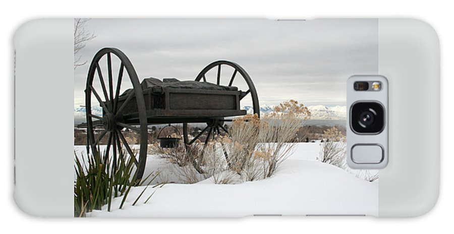 Handcart Galaxy S8 Case featuring the photograph Handcart Monument by Margie Wildblood