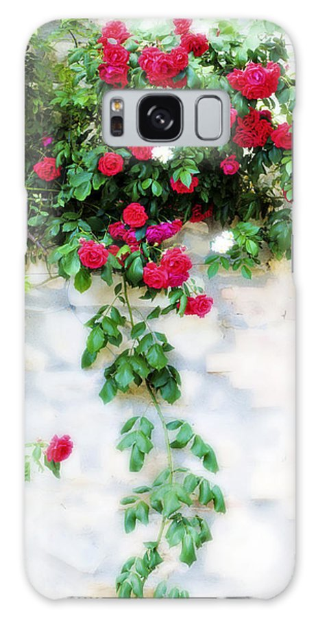Hang Galaxy S8 Case featuring the photograph Hangin Roses by Marilyn Hunt