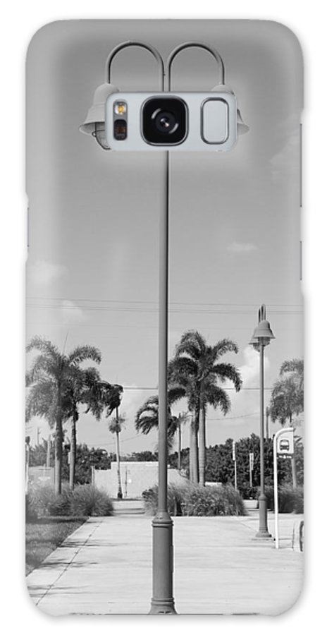Black And White Galaxy S8 Case featuring the photograph Hanging Lamps by Rob Hans