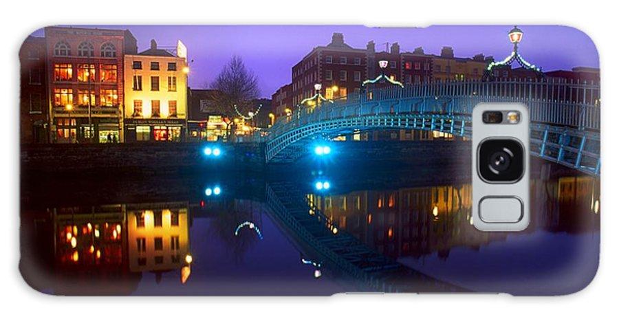 Bridge Galaxy S8 Case featuring the photograph Hapenny Bridge, Dublin, Ireland by The Irish Image Collection