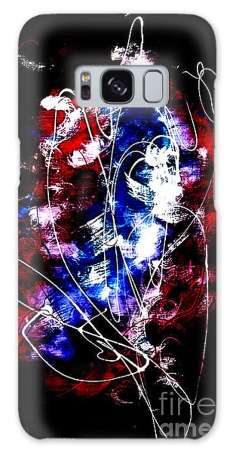Abstract Painting Galaxy S8 Case featuring the painting Happiness In Pandamouim by Chembaline Uche