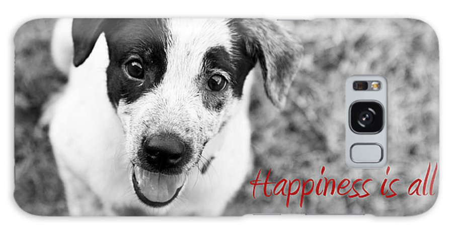 Puppy Galaxy S8 Case featuring the photograph Happiness Is All Around Me by Amanda Barcon