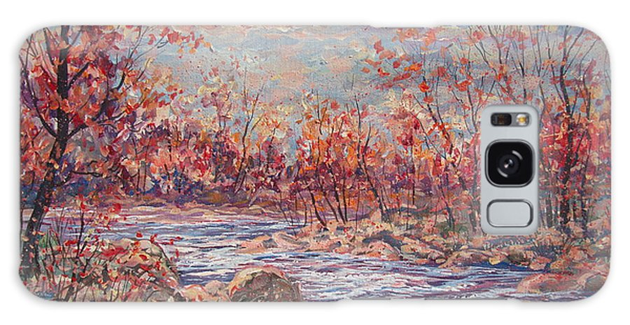 Landscape Galaxy Case featuring the painting Happy Autumn Days. by Leonard Holland