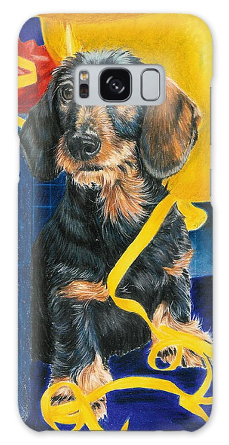 Dogs Galaxy S8 Case featuring the drawing Happy Birthday by Barbara Keith