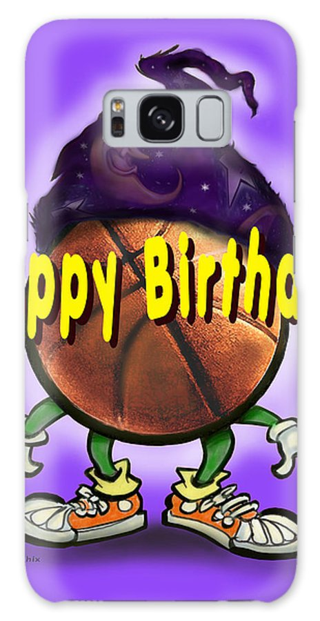Happy Birthday Galaxy S8 Case featuring the greeting card Happy Birthday Basketball Wiz by Kevin Middleton