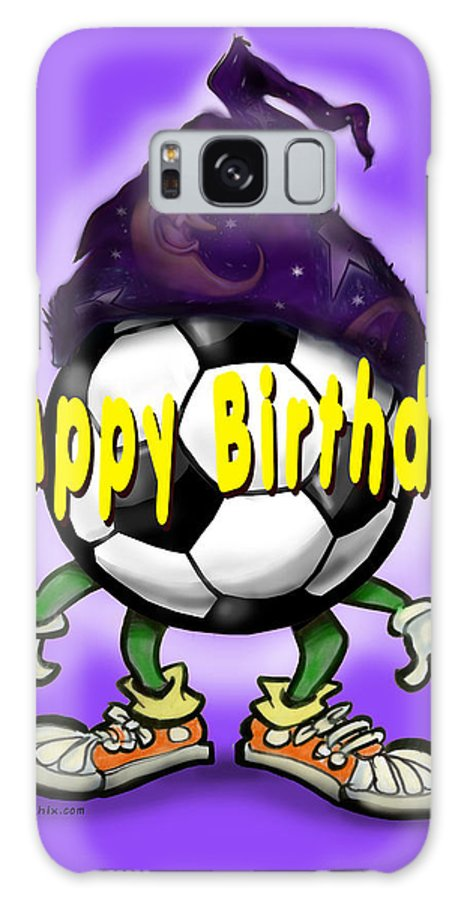 Soccer Galaxy S8 Case featuring the greeting card Happy Birthday Soccer Wizard by Kevin Middleton