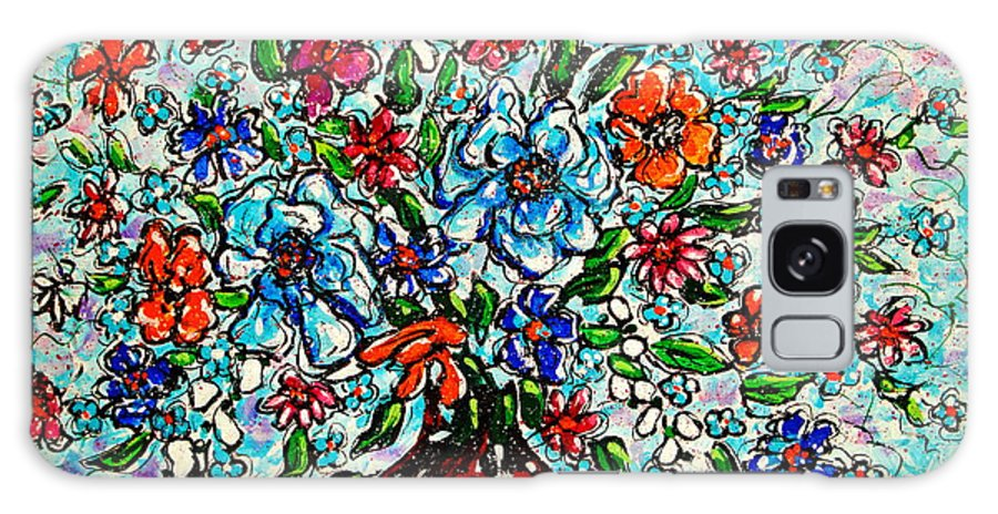 Impressionism Galaxy Case featuring the painting Happy Bouquet by Leonard Holland