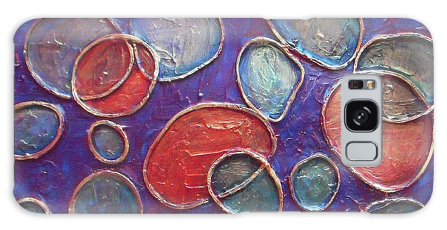 Circles Galaxy S8 Case featuring the painting Happy Bubbles by Vesna Antic