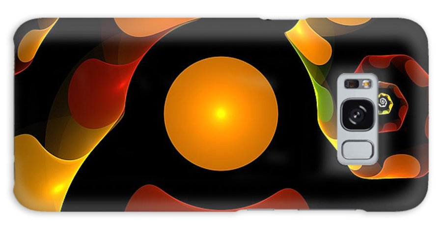 Abstract Galaxy S8 Case featuring the painting Happy Digit by Steve K