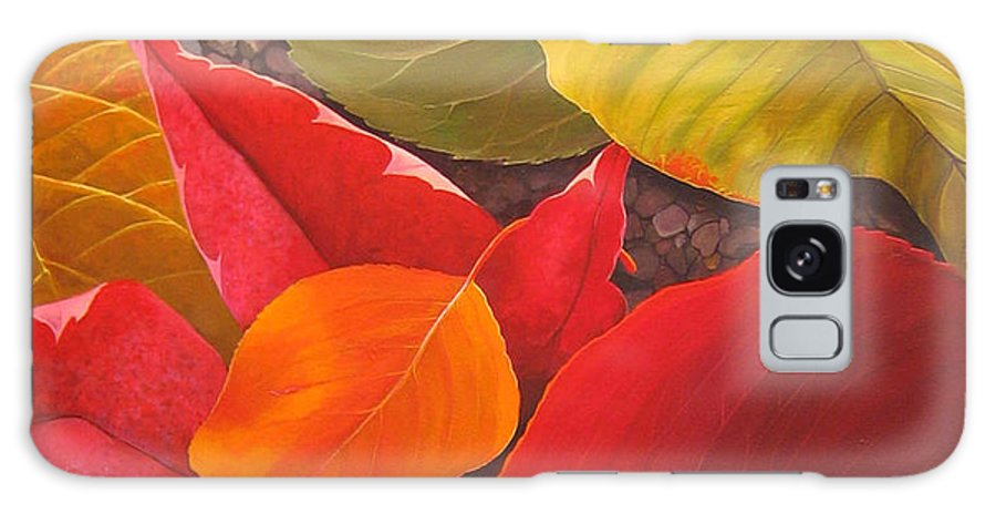 Autumn Leaves Galaxy Case featuring the painting Happy Landings by Hunter Jay