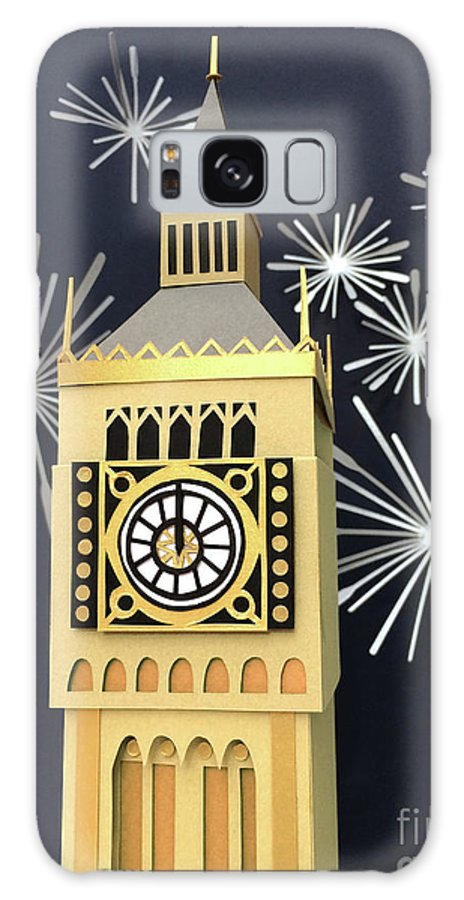 Happy New Year Galaxy S8 Case featuring the mixed media Happy New Year by Isobel Barber