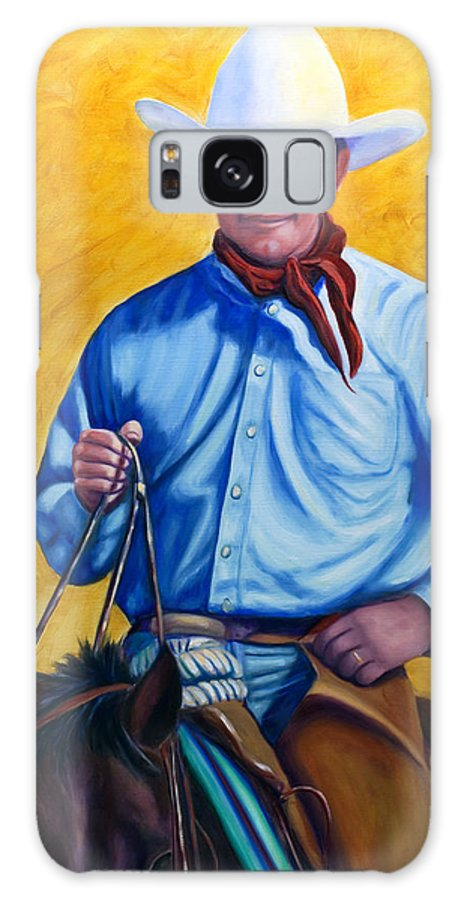 Cowboy Galaxy S8 Case featuring the painting Happy Trails by Shannon Grissom