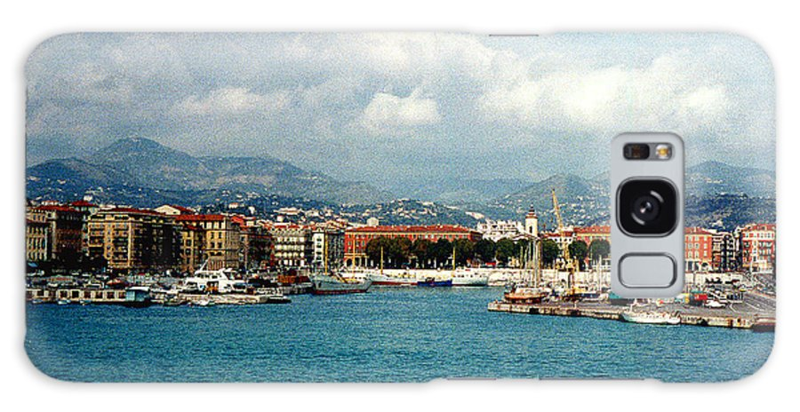 Landscape Galaxy S8 Case featuring the photograph Harbor Scene In Nice France by Nancy Mueller