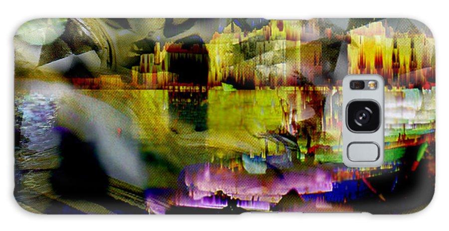 European Galaxy Case featuring the digital art Harbor Scene Through A Vodka Bottle by Seth Weaver