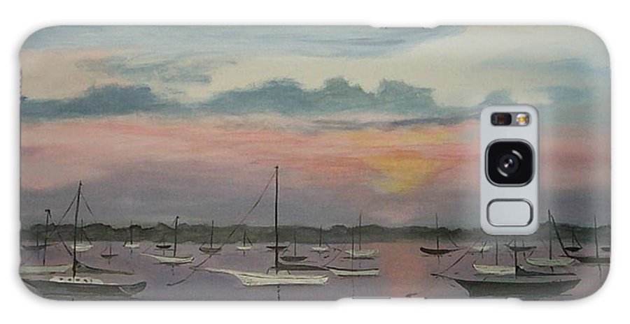 Harbor Galaxy S8 Case featuring the painting Harbor Twilight by Nancy Nuce