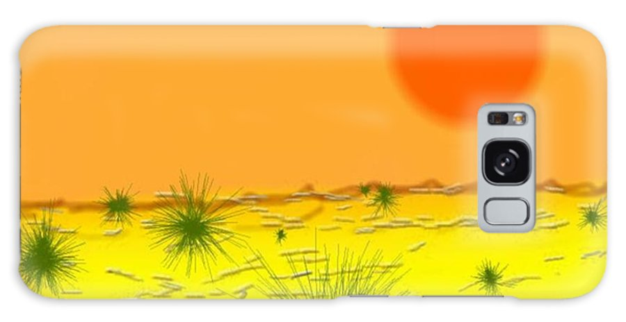 Sky.sun.desert.sand.heat.rare Bushes Of The Prickle.dust.dry. Galaxy S8 Case featuring the digital art Hard Sun Of Desert by Dr Loifer Vladimir