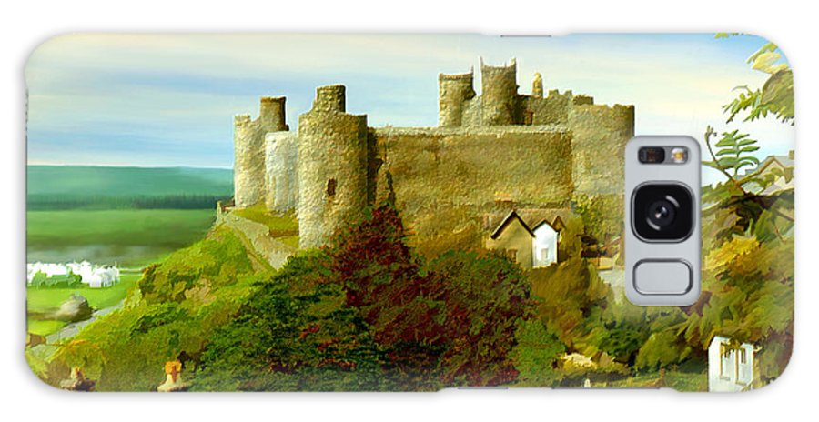 Castles Galaxy S8 Case featuring the photograph Harlech Castle by Kurt Van Wagner