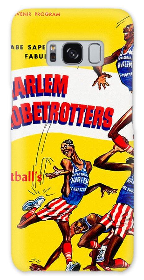 Harlem Globetrotters Galaxy S8 Case featuring the painting Harlem Globetrotters Vintage Program 32nd Season by John Farr