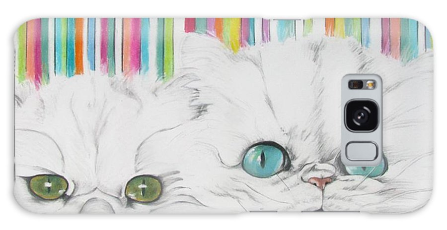 Cat Painting Galaxy S8 Case featuring the pastel Harley And Chloe by Michelle Hayden-Marsan