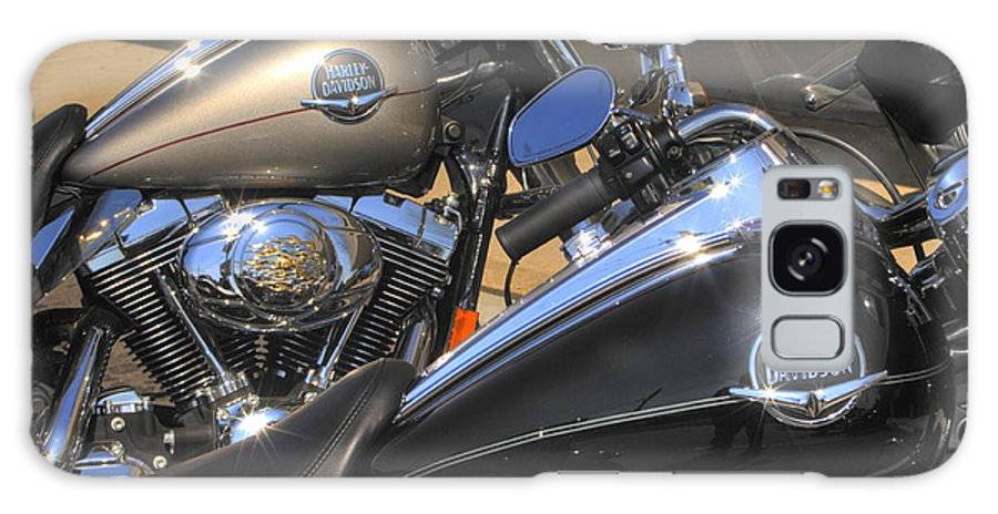 Motorcycle Art Galaxy S8 Case featuring the photograph Harley Duo by Corky Willis Atlanta Photography