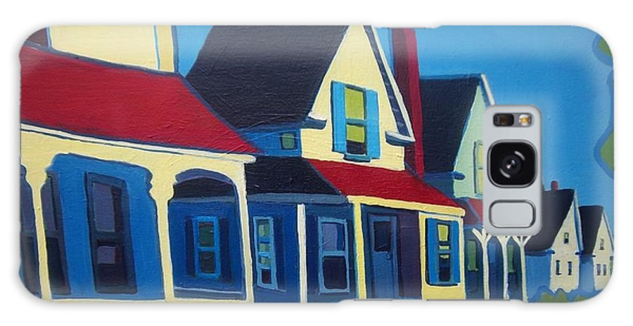 Maine Galaxy S8 Case featuring the painting Harpswell Cottages by Debra Bretton Robinson
