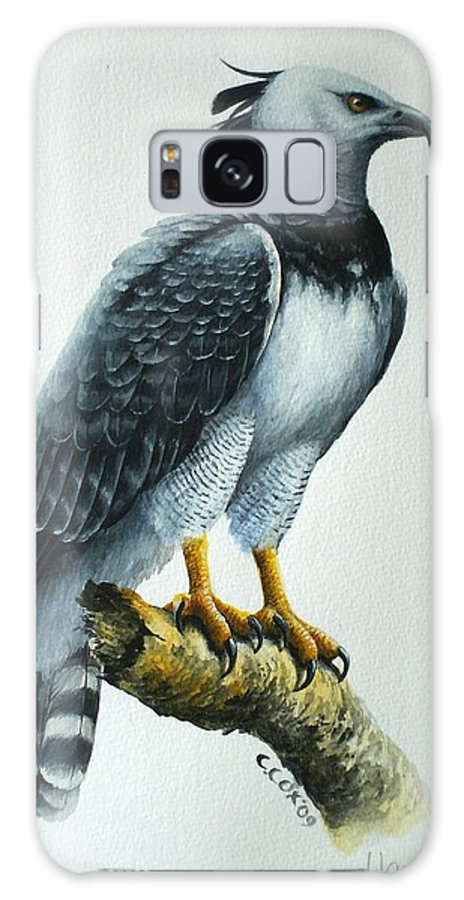 Harpy Eagle Galaxy S8 Case featuring the painting Harpy Eagle by Christopher Cox