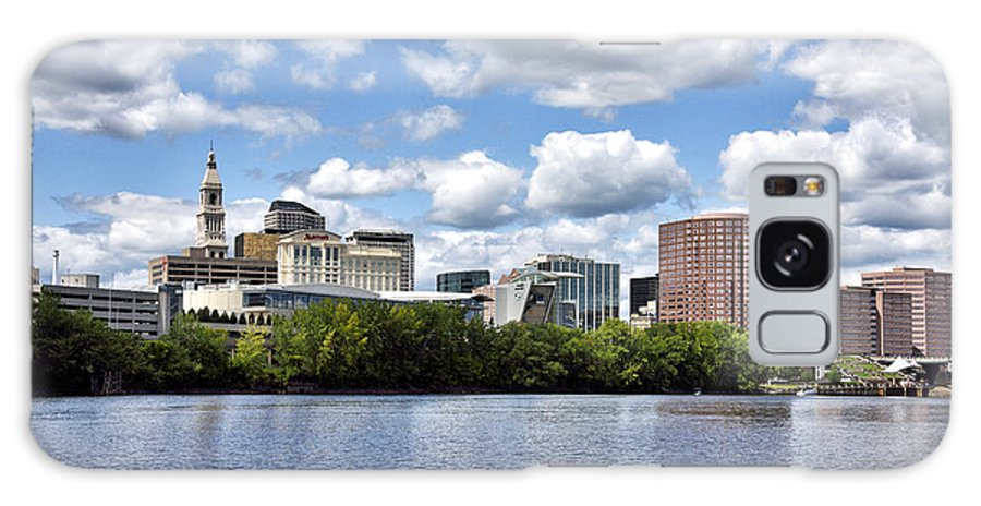 hartford Connecticut Galaxy Case featuring the photograph Hartford Connecticut - Skyline by Brendan Reals