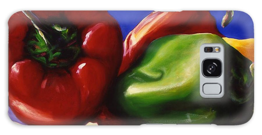 Still Life Galaxy S8 Case featuring the painting Harvest Festival Peppers by Shannon Grissom