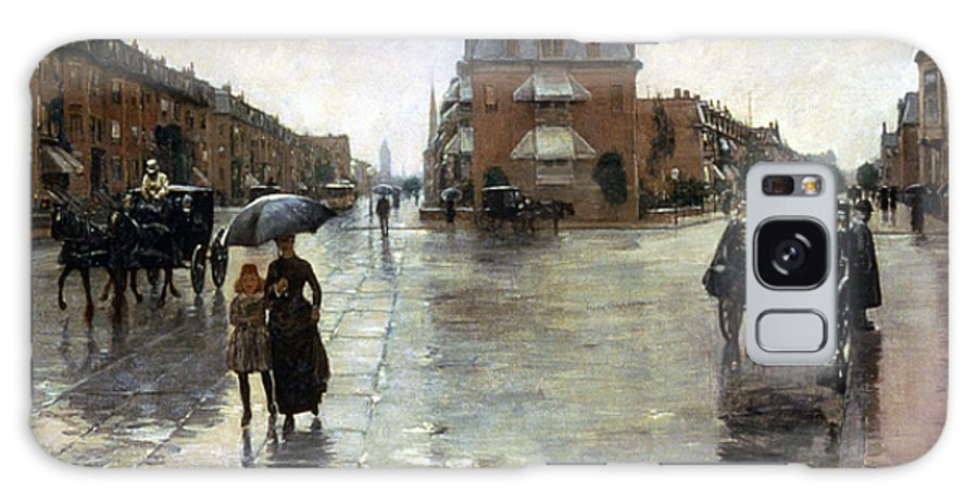 1885 Galaxy S8 Case featuring the photograph Hassam: Rainy Boston, 1885 by Granger