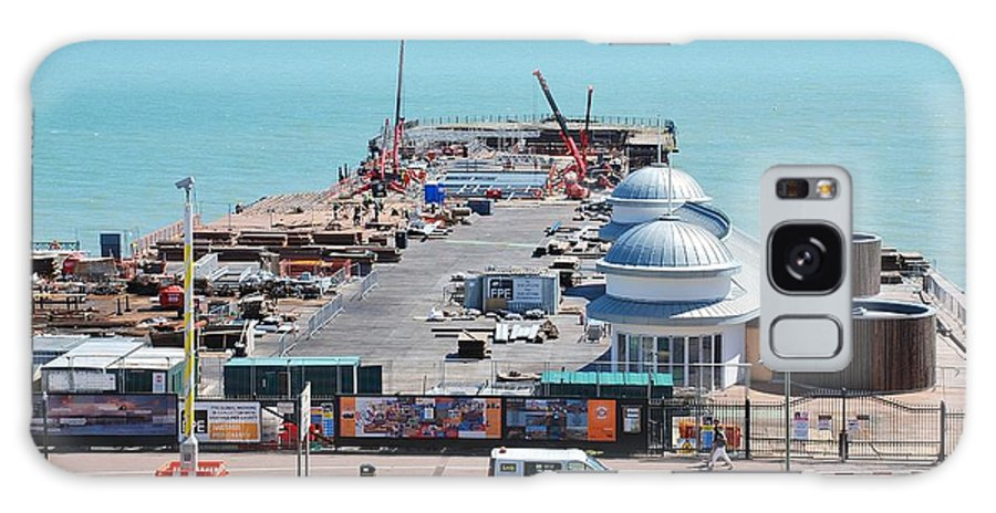 Hastings Galaxy S8 Case featuring the photograph Hastings Pier Rebuild by David Fowler