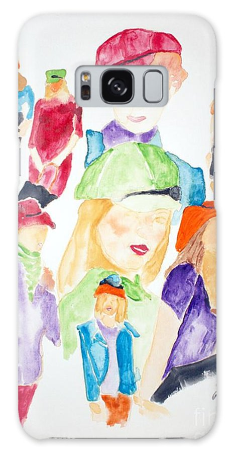 Hats Galaxy S8 Case featuring the painting Hats by Shelley Jones